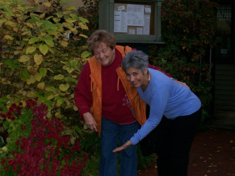 Judy and Lynn at the canoe restaurant