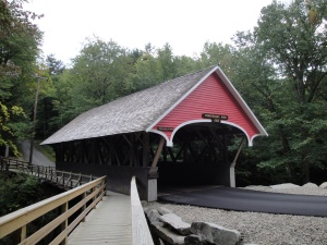 Covered Bridge at Flume Gorge